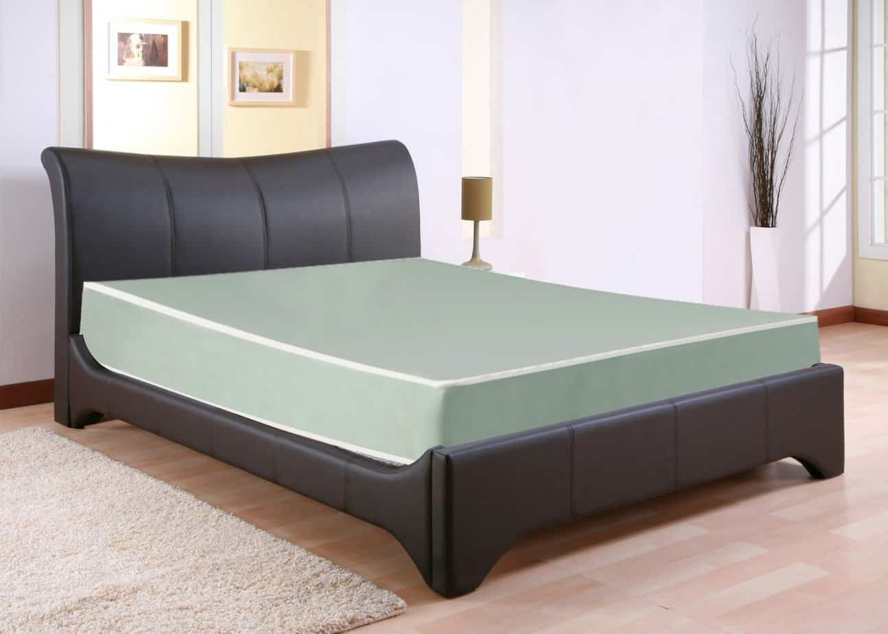 the Continental Sleep Waterproof Vinyl Orthopedic Mattress laid on a bed