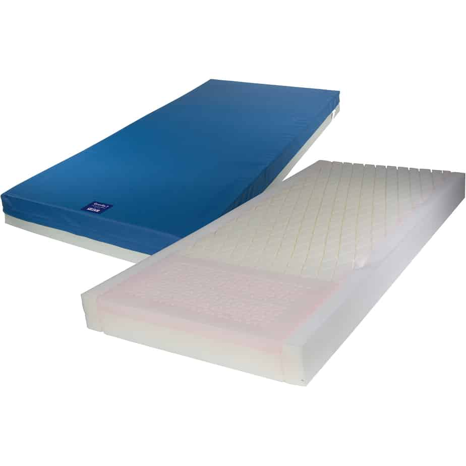 the Drive Medical Gravity 7 Long Term Care Pressure Redistribution Mattress comes in 2 layers