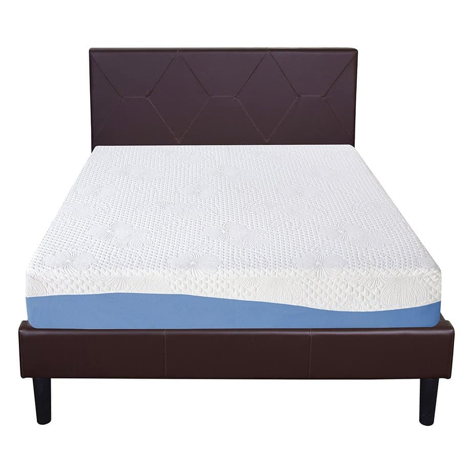 The Olee Sleep Gel Memory Foam Mattress pictured is the most affordable gel mattress