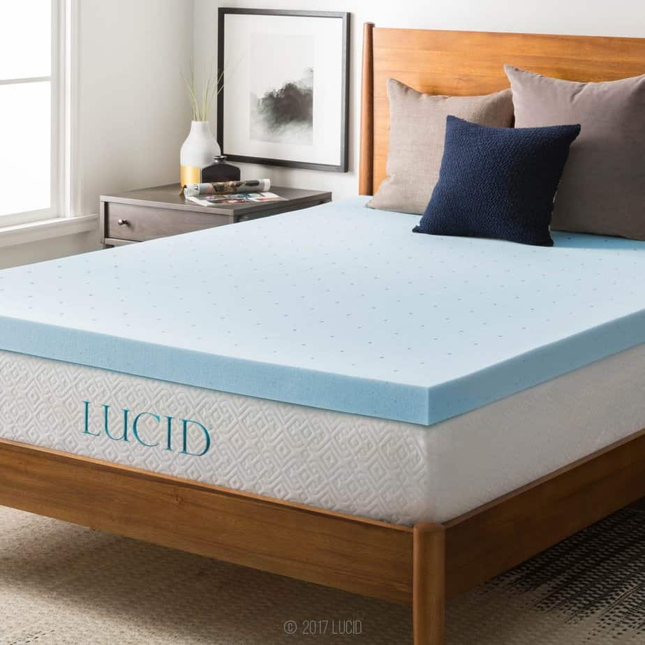 Pic of the LUCID mattress topper in full swing