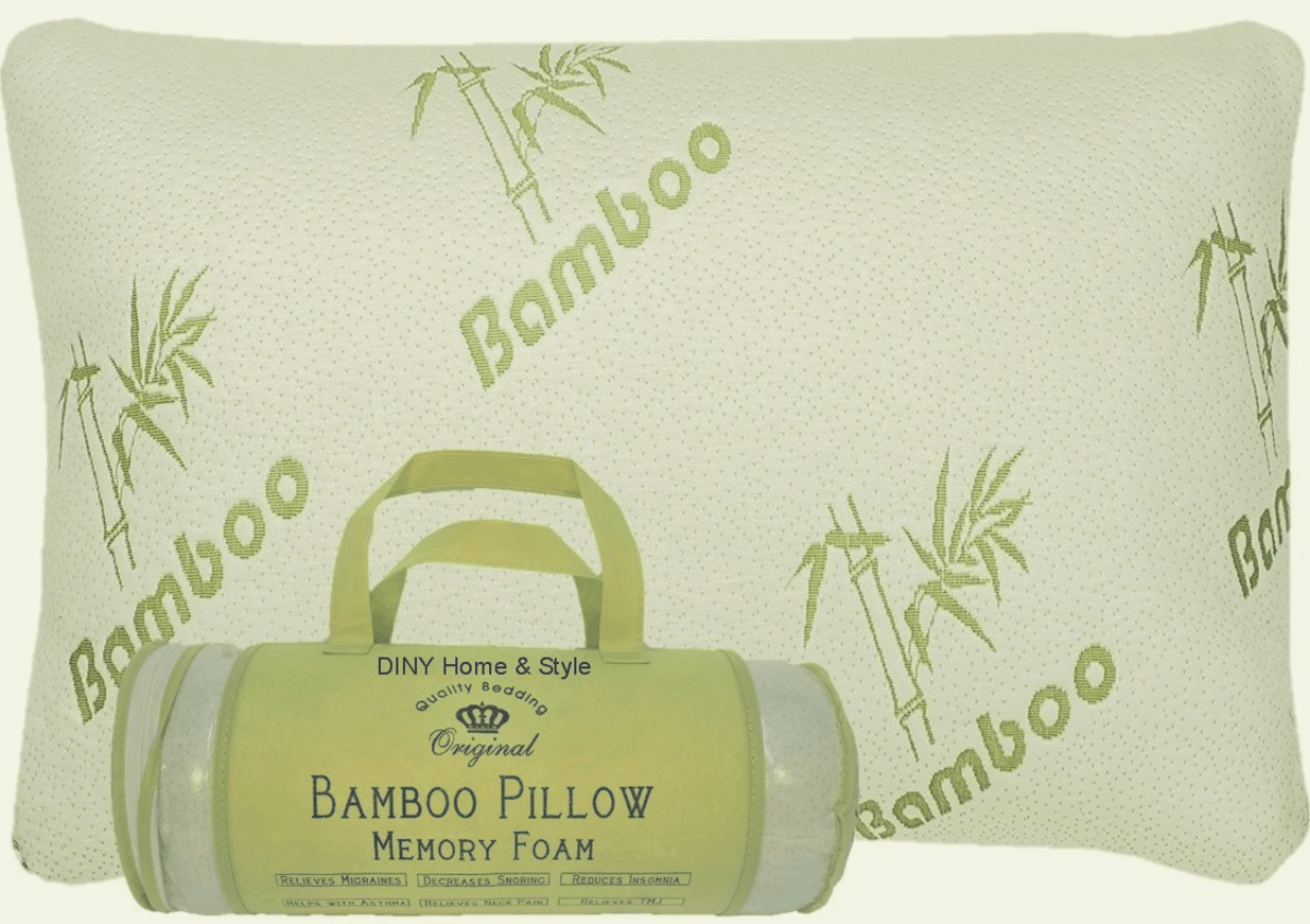 bamboo pillow with carry bag