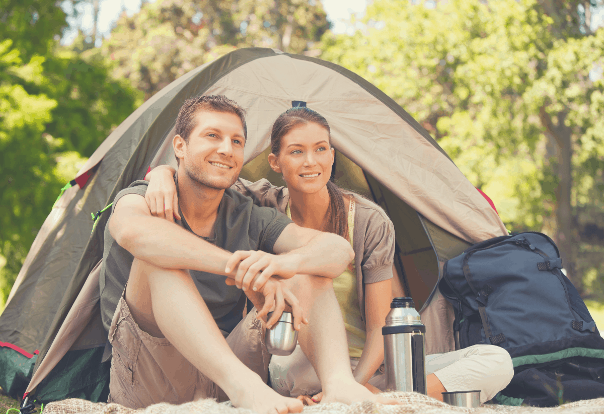 couple at a campsite