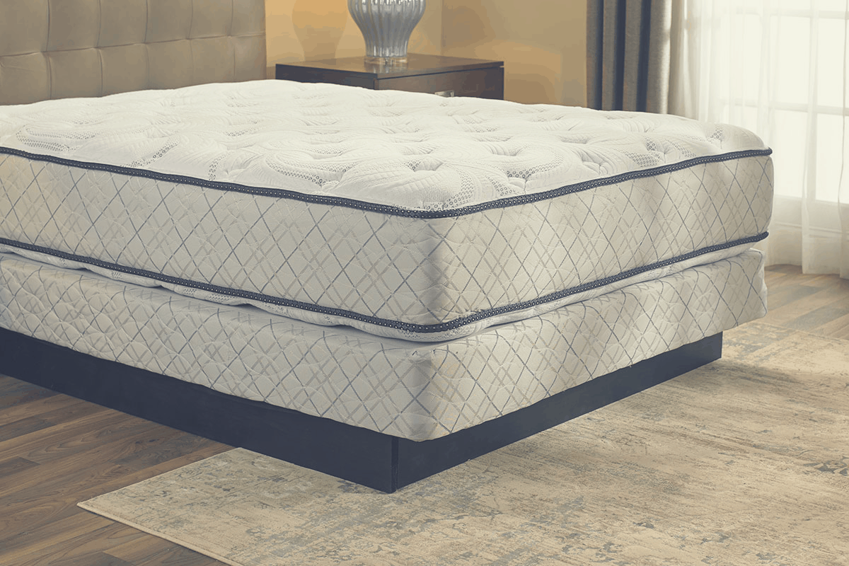 mattress on a boxpring