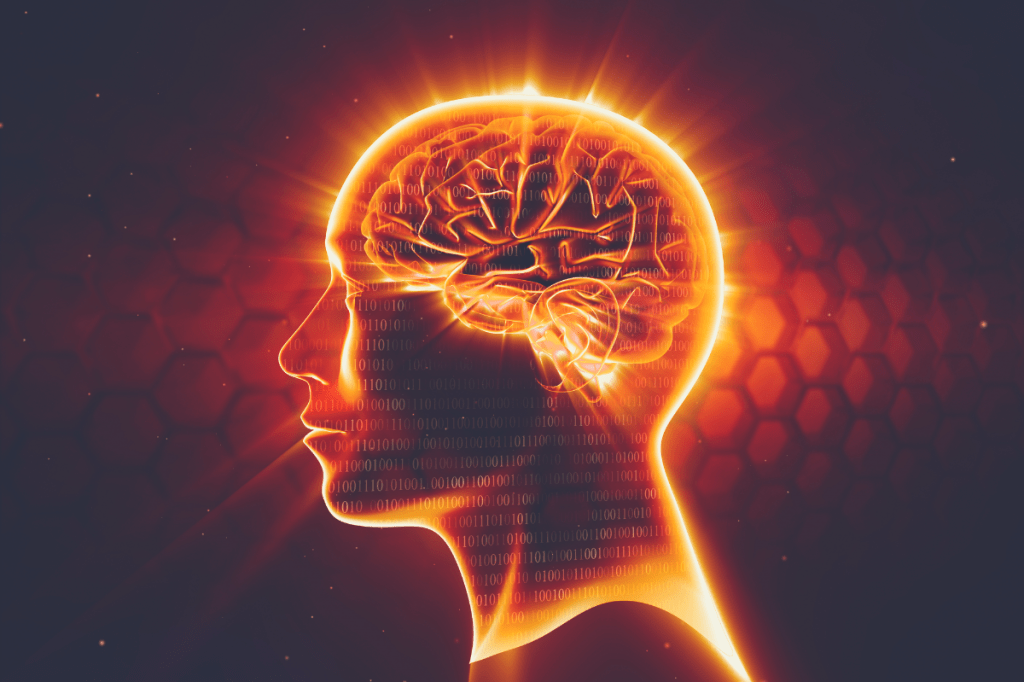 3d image of a person's brainwaves