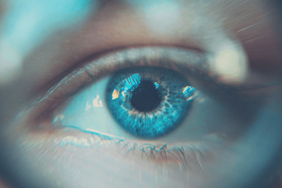 image of a person's eye up close