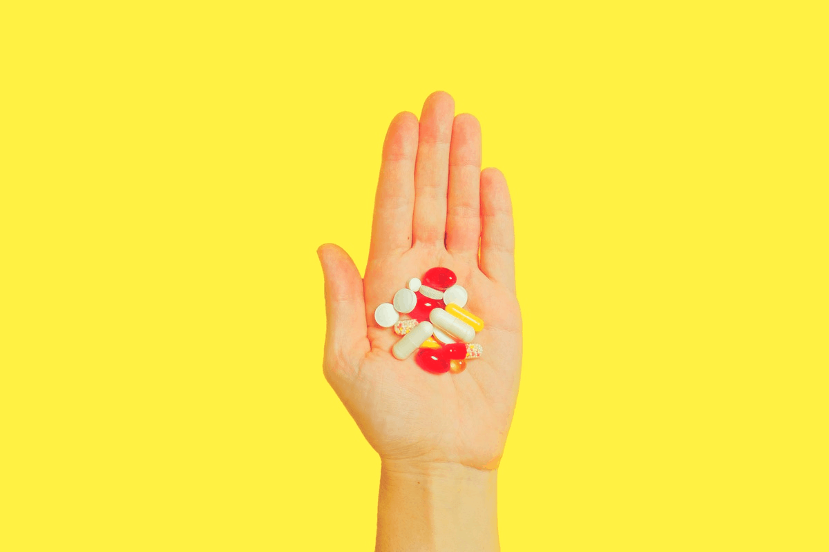 vitamins in the palm